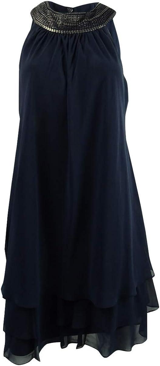 S.L. Fashions Women's San Antonio Mall Latest item Sleeveless Short Dress Collar Roll