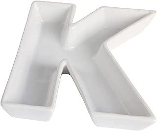 Ivy Lane Design Ceramic Greek Alphabet Dish, Kappa