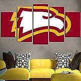 KOPASD 5 Pezzi Quadro su Tela NCAA Winthrop Eagles Stampa Quadri Moderni Soggiorno Dipinti Decorativa Tela Casa Cucina Decorazione per Interni Pittura Arte Poster