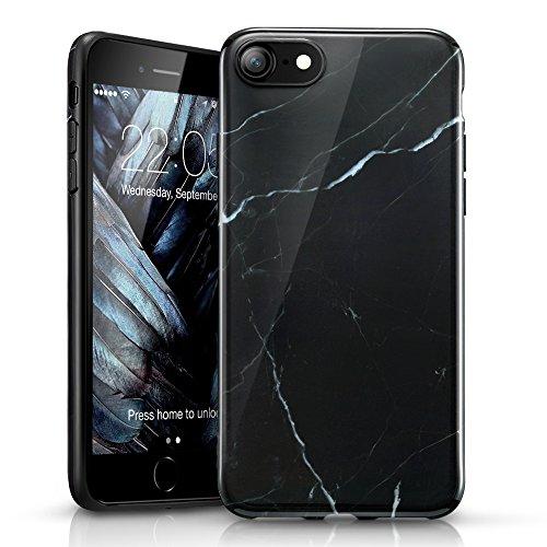 "ESR Marmor Hülle kompatibel mit iPhone SE(2020)/8/7, Schlankes weiches Flexibles TPU, Marmor-Muster Hülle für iPhone SE/8/7 4,7""-Marquina"