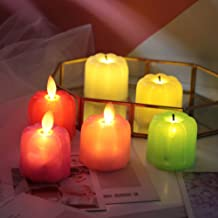 OSALADI 4pcs Halloween Pumpkin Flameless Candle Lights LED Electric Night Light Party Supplies Black Wick Mixed Colors
