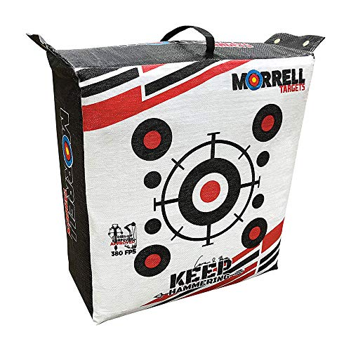 Morrell Outdoor Keep Hammering Commercial Grade Crossbow 54 Pound Adult Field Point Archery Bag Target with 76 Layers of Stopping Power, Multicolor