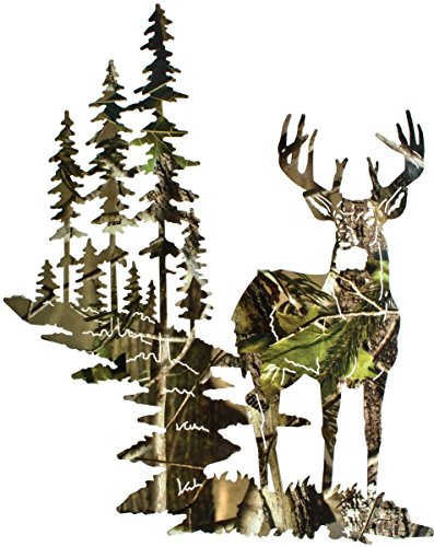 SDore Camo Deer Birthday Party Edible 1/4 Sheet Image Frosting Cake Topper