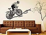 Calcomanías de pared de dulces sueños en bicicleta de montaña luna y estrellas dormitorio guardería