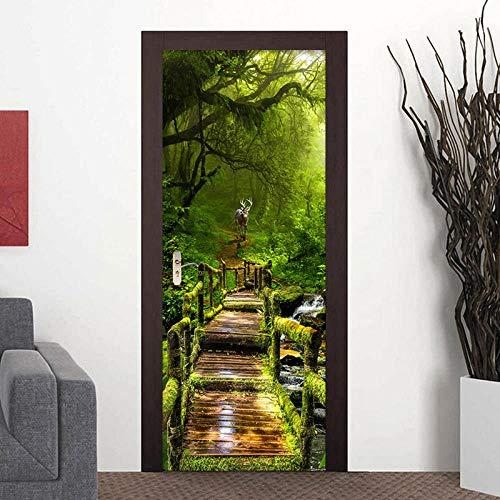 Kesdie Fotobehang van PVC-kunststof, zelfklevend, zelfklevend, 77 x 200 cm