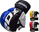 RDX MMA Gloves for Martial Arts Training & Grappling   Approved by SMMAF   Palm-O Maya Hide Leather Sparring Mitts   Good for Kickboxing, Muay Thai, Cage Fighting, Punching Bag & Combat Sports