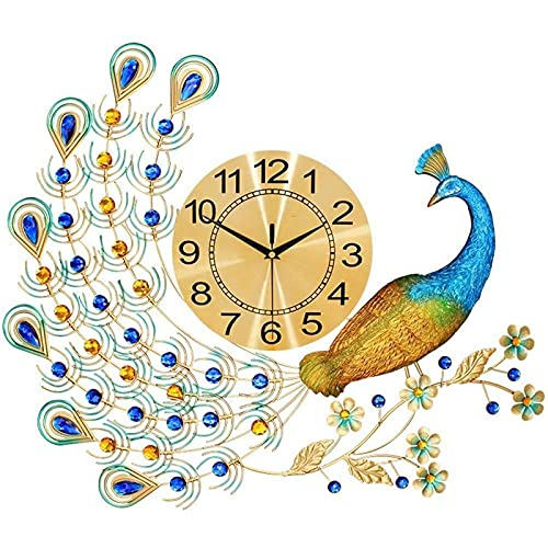 Wandklok Pendulum Clock Quartz Horloges Silent Style Lucky Peacock