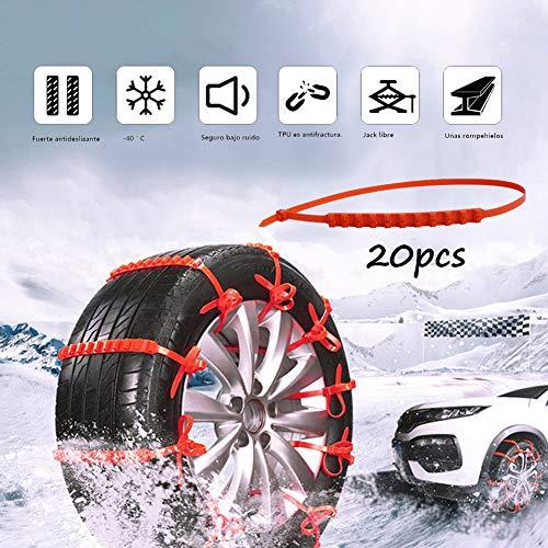 XYQCPJ 10/20/40Pcs Auto-Schneeketten rutschfeste Nylon-Reifenkette Notzugkraft Schnee-Reifen kettet für Auto SUV Truck 145-295mm