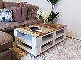 Mesa de palets para Jardin - Terraza, Patio, Salón, Interiores, Exteriores - Muebles con palets de Madera, Mobiliario Rustico (Granja, 90 x 50 x 45)