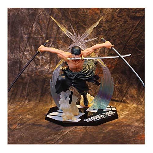 Khosd One Piece Actionfigur Roronoa Zoro Model PVC Statue Figur Spielzeug Wunderbares Geschenk Für Ereignisse Wie Geburtstage, Valentinstag, Weihnachten, Neujahr. Höhe-17cm