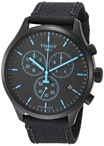 Tissot Men's Chrono XL Stainless Steel Swiss Quartz Sport Watch with Nylon Strap, Black (Model: T1166173705100)