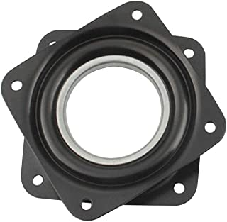 OLE STAR Galvanized Black Square Lazy Susan Turntable Bearings Rotating Bearing Plate Great for DIY Project for Home 4Pcs