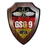 Copytec Wappenschild GSG 9 BPOL Grenzschutzgruppe Bundespolizei Tätigkeits-Abzeichen Wappen Elite Einheit Anti Terror Emblem #21316