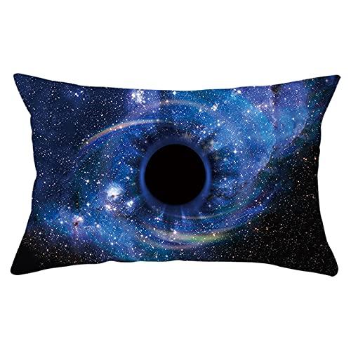 Daesar Funda de Almohada,Funda de Cojin Sin Relleno,Universo Cielo Estrellado Fundas de Cojin 50x30 Estampadas Azul
