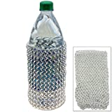Medieval Wine Bottle Kozie Sleeve - Aluminum Chainmail Lightweight