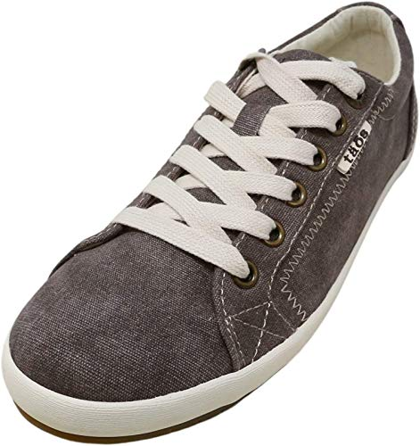Taos Footwear Women's Star Chocolate Wash Canvas Sneaker 9 M US