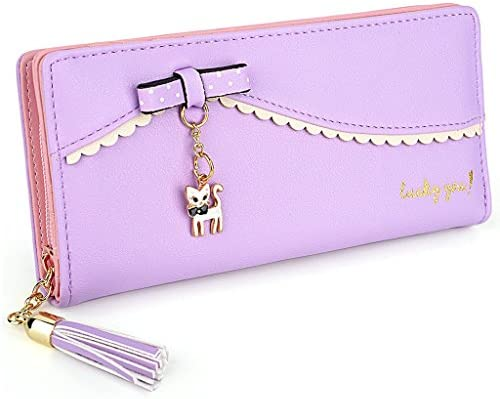 UTO Women Long Wallet PU Leather Clutch 5 5 Phone Case 12 Card Slots Holder Zipper Pocket Purse product image