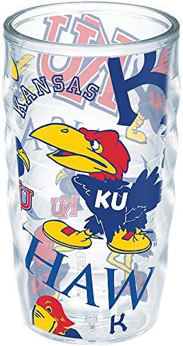 Tervis University of Kansas UK Jayhawks Insulated Tumbler, 10oz Wavy - Tritan - No Lid, All Over