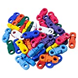 Quick Release Breakaway Buckles – Use with Paracord, Ribbon, Straps, etc. (Mixed, 50 Pack)