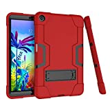 """Koolbei Case for LG G Pad 5 10.1"""" Case 2019,Heavy-Duty Drop-Proof and Shock-Resistant Rugged Hybrid case with Built-in Stand , for LG G Pad 5 10.1 inch FHD Tablet 2019 (Red+Black)"""