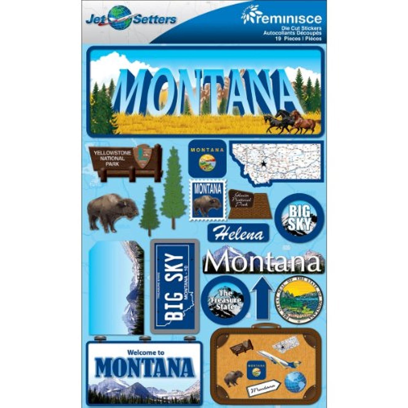 Reminisce Jet Setters 2 3-Dimensional Sticker, Montana