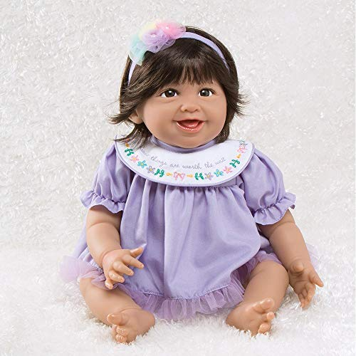 Paradise Galleries Mexican Baby Doll Hispanic Reborn Rainbow Blessings: Joy, 5-Piece Gift Set, 19 inch GentleTouch Vinyl & Weighted Body