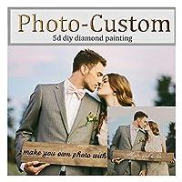 5D DIYダイヤモンドペインティング!プライベートカスタム!写真カスタムあなた自身のダイヤモンド絵画を作るフルドリルダイヤモンドラインストーン刺繡CL