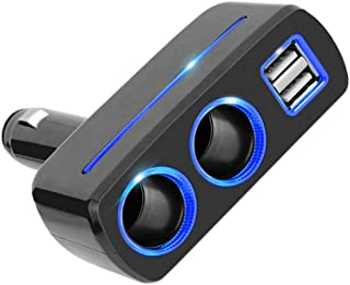 Adaptador de tomada de isqueiro de carro da Vicasky com USB duplo, adaptador divisor de carro, acessórios para carro, barc...