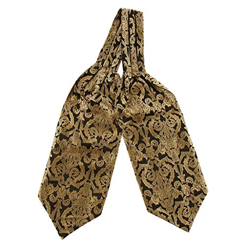 Corbata de Ascot de seda de poliéster floral estilo caballero elegante para hombre