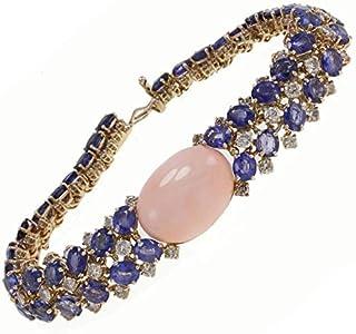 Bracciale oro Rosa, Corallo, Zaffiri e Diamanti