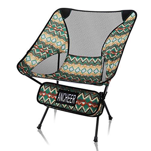ANCHEER アウトドアチェア 【耐荷重150kg】僅か900g 超軽量設計 コンパクト 折りたたみ 航空級アルミウム合金 安定性向上 キャンプ椅子 お釣り・登山・ハイキング用