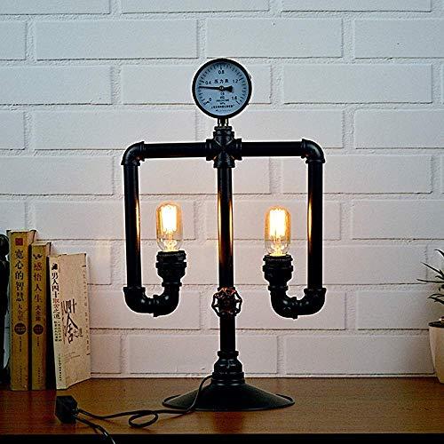 DJY-JY Lámpara de tubo de hierro estilo europeo retro industrial Feng Shui creativo robot decoración lámpara de hierro tubo lámpara 22 * 35 * 58 cm simple romántico