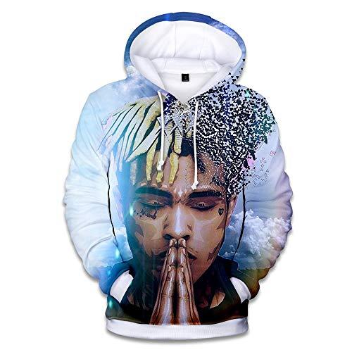 Unisex Adult Cool Rapper Hoodie Singer Hoodie 3D Hooded Pullover Sweatshirt XL