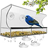 Alimentador de colibrí al Aire Libre, Colgante de Jaula de pájaros con Ventosa, alimentador de pájaros de Mascota, acrílico Transparente de plexiglá, Utilizado para jardín y Patio decoración Exterior