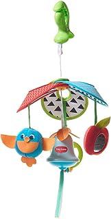 Tiny Love Pack & Go Carrillón en forma de campana y sonajeros, Juguete bebé con 4 actividades divertidas que apoyan el desarrollo, clip universal, Meadow Days