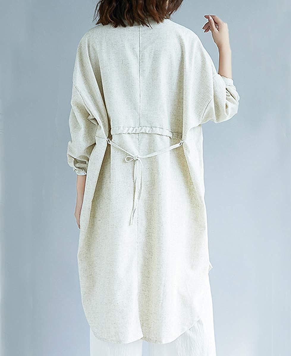 ellazhu Women Black Baggy Button Down Casual Blouse Dress with Pocket GA1320 A