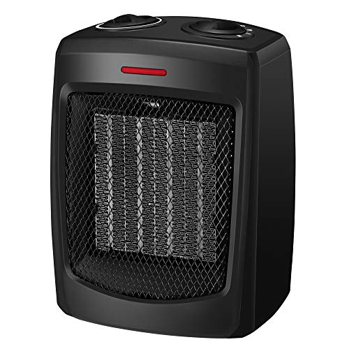 Image of andily Space Heater Electric Heater for Home and Office Ceramic Small Heater with Thermostat, 750W/1500W: Bestviewsreviews