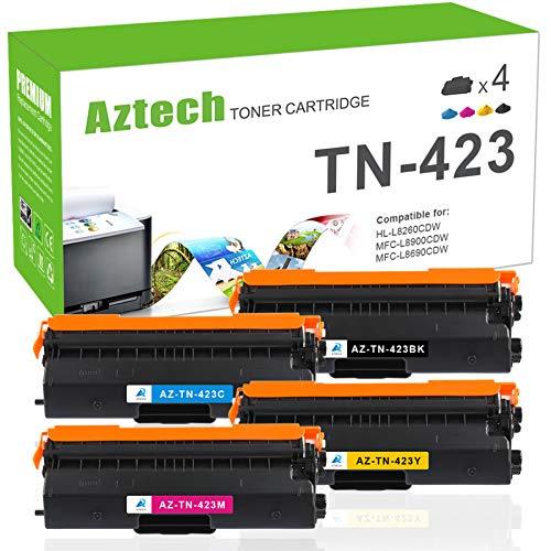 Aztech Kompatibel Toner Cartridge Replacement für Brother TN-423 TN-421 TN423 TN421 TN423BK Toner für Brother MFC-L8690CDW DCP-L8410CDW HL-L8260CDW HL-L8360CDW MFC-L8900CDW Brother MFC L8690CDW Toner