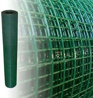 Gitterzaun Rollzaun grün 1*25m Kleintiergehege punktverschweißt Maschendrahtzaun