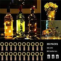 【Profitez de bricolage et ambiance romantique】 Ces lumières en liège pour bouteilles de vin sont souples mais robustes, peuvent être facilement pliées et mises en bouteilles facilement. Ces lumières peuvent servir de bricolage à votre guise. Ils sont...
