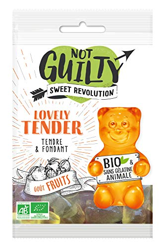 Not Guilty - Bonbons Gélifiés Lovely Tender Saveur Fruits - Bonbons Vegan et Bio, Sans Gélatine Animale - 1 Sachet de 50g
