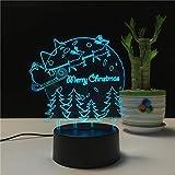 Luz de Noche led de Navidad Árbol de Navidad Luces de Colores atenuación táctil Dormitorio lámpara de Mesa de Dibujos Animados Logo Campo de Navidad