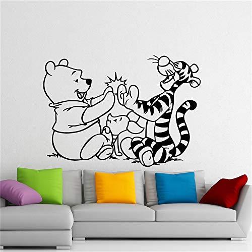 stickers muraux autocollant Winnie l'ourson Winnie l'ourson Tigrou Cartoon autocollant chambre d'enfant décoration intérieure maison chambre d'enfants