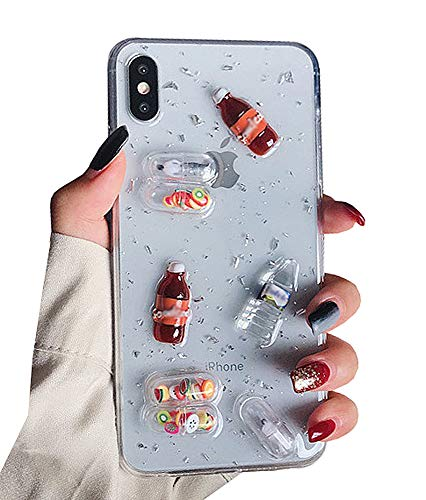 UnnFiko 3D Clear Case Compatible with iPhone 6/ iPhone 6s, Super Cute Cartoon Characters, Funny Creative Soft Protective Case Cover (Bottles Clear, iPhone 6 / 6s)