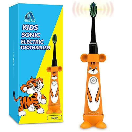 Sonic Kids Spazzolini elettrici per bambini piccoli, spazzolino da denti con azionamento per bambini e testine morbide Contiene una batteria per bambini dai 3 anni