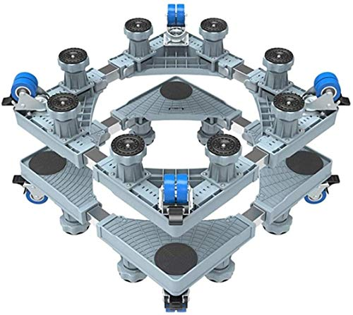Rörliga hjul Hjul Universal Rörlig justerbar bas med låsbara svänghjul Anti Vibration Mute Cart Utomhus rullvagn för tvättmaskin Ställ Storlek Namn: 75cmx75cm Kraftiga länkhjul