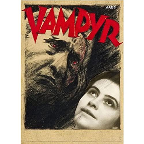 FGVB La colección de Vampiros de Carl Theodor Dreyer Francia Película Francesa Póster Decorativo de película Lienzo de Pared Decoración para el hogar-50x70cmx1pcs -Sin Marco