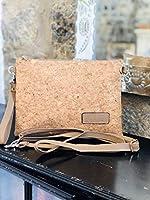 Idea de regalo: bolsa de corcho bohemia para un efecto natural y boho-chic: clutch con correa o bandolera para el hombro...