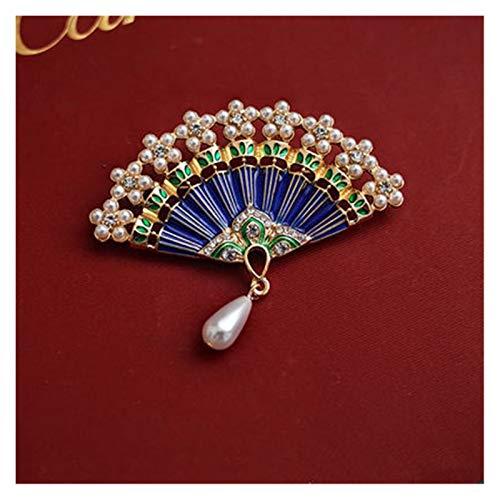 Fylsdes Brooch Gold Color Pin Bow Dog Fan Hat Flower Tree Cross Vintage Geometric Round Brooch for Women Accessories Novelty Jewellery (Metallfarbe : 21)