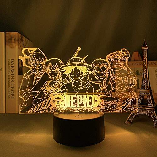 Lámpara de ilusión 3D Luz de noche LED Grupo de personajes de dibujos animados Lámpara de mesa creativa Niños Regalo de cumpleaños para niños Dormitorio Decoración de noche Iluminación de vacaciones